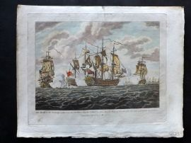 Field of Mars 1801 HC Naval Capt Tyrill in the Buckingham defeating French Ships